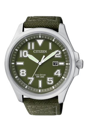 OROLOGIO CITIZEN ECO DRIVE MILITARY VERDE